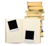 Exercise book and two photo frames #2 Stock Photos