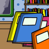 Exercise books in the classroom Stock Image
