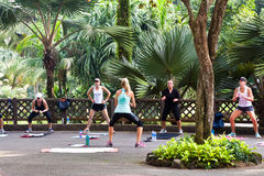 Exercise in Botanic Garden Stock Photo