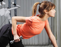 Exercise with dumbbell Stock Photos
