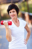 Exercise with dumbbell Royalty Free Stock Photography