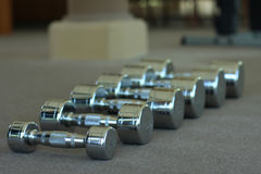 Exercise dumbbell. In the gym they are have many size of dumbbell Royalty Free Stock Photo
