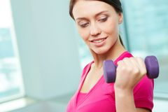 Exercise with dumbbell Royalty Free Stock Image