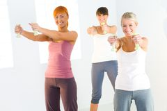 Exercise with dumbbells Stock Photos