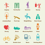 Exercise elements. Vector infographic icons vector illustration