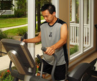 Exercise - Elliptical Cross Training 3 Royalty Free Stock Image