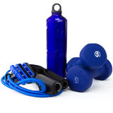 Exercise equipment. On white background Stock Photo