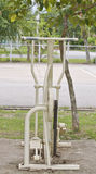 Exercise equipment. In public park Stock Photography