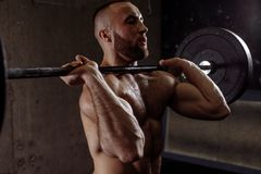 Exercise equipment for bodybuilders royalty free stock photos