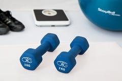 Exercise equipment on floor