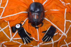 Exercise equipment parachutist. Royalty Free Stock Images