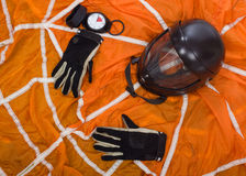 Exercise equipment parachutist. Royalty Free Stock Photography