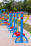 Exercise equipment in the park Stock Photo