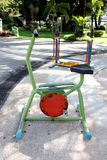 Exercise equipment in the park. Stock Images