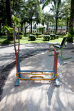 Exercise equipment in the park. Royalty Free Stock Photography