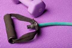 Exercise equipment purple map Stock Images