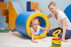 Exercise equipment in sensory therapy Royalty Free Stock Image