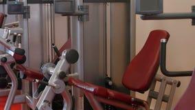 Exercise equipment in the studio stock video