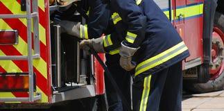 Exercise of the fire brigade Stock Photos