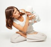 Exercise from the first day after giving birth Stock Image