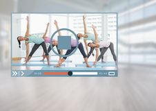 Exercise fitness Video Player App Interface Stock Photography