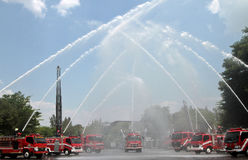 Exercise forces Firefighters Royalty Free Stock Images