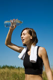 Exercise girl cooling down Stock Photography