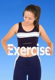 Exercise is good for you Stock Images