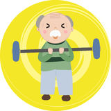 Exercise grandfather Royalty Free Stock Image