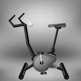 Exercise Grey Bike for. Cycling  on Grey Light Background Stock Images