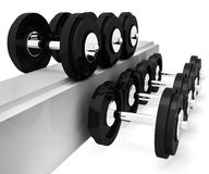 Exercise Gym Represents Workout Equipment And Exercises 3d Rendering Royalty Free Stock Photo
