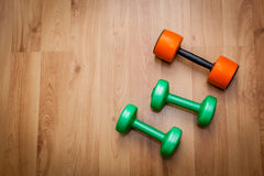 Exercise hand weights Royalty Free Stock Images