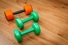 Exercise hand weights Royalty Free Stock Photos