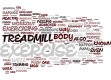 Exercise And Harm Text Background Word Cloud Concept Royalty Free Stock Photography