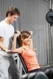 Exercise in health club Royalty Free Stock Image