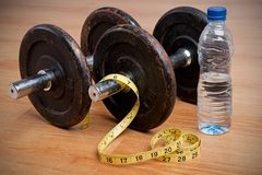 Exercise and Healthy Diet Royalty Free Stock Image