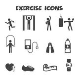 Exercise icons Stock Photos