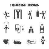Exercise icons. Mono vector symbols vector illustration