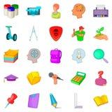 Exercise icons set, cartoon style Stock Photos