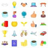 Exercise icons set, cartoon style. Exercise icons set. Cartoon set of 25 exercise vector icons for web isolated on white background Royalty Free Stock Photos