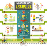 exercise Infographics Royalty Free Stock Photography