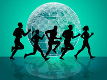 Exercise Jogging Means Get Fit And Fitness Royalty Free Stock Photos