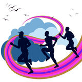 Exercise Jogging Means Get Fit And Running Royalty Free Stock Images
