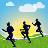 Exercise Jogging Represents Get Fit And Fitness Stock Photography