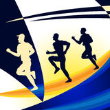 Exercise Jogging Represents Get Fit And Work-Out Royalty Free Stock Photos