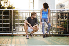 Exercise Jogging Running Couple Sport Summer Concept Royalty Free Stock Images
