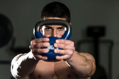 Exercise With Kettle Bell Stock Image