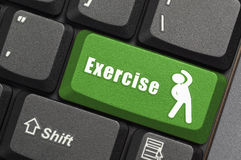 Exercise key on keyboard Royalty Free Stock Images