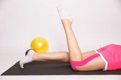 Exercise after leg injury Stock Image