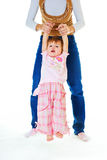 Exercise with little girl Royalty Free Stock Photos